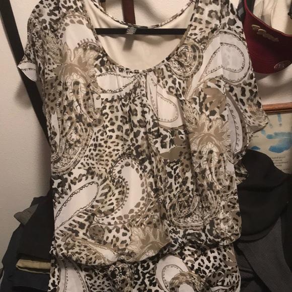 Style & Co Tops - Animal print shirt